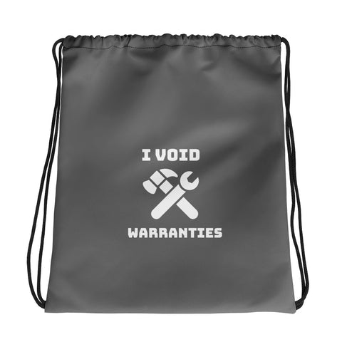 I void warranties - Drawstring bag (grey)