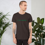 // no comment - Short-Sleeve Unisex T-Shirt (green text)
