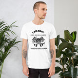 I Am Root If You See Me Laughing You Better Have A Backup - Short-Sleeve Unisex T-Shirt (black text)