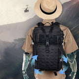 35L Travel Bag Camping Backpack Hiking Military Tactical Bags Climbing Rucksack Army Bags Outdoor Laser Army