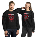 Red Mecha Guardian - Unisex Sweatshirt (all sides print)