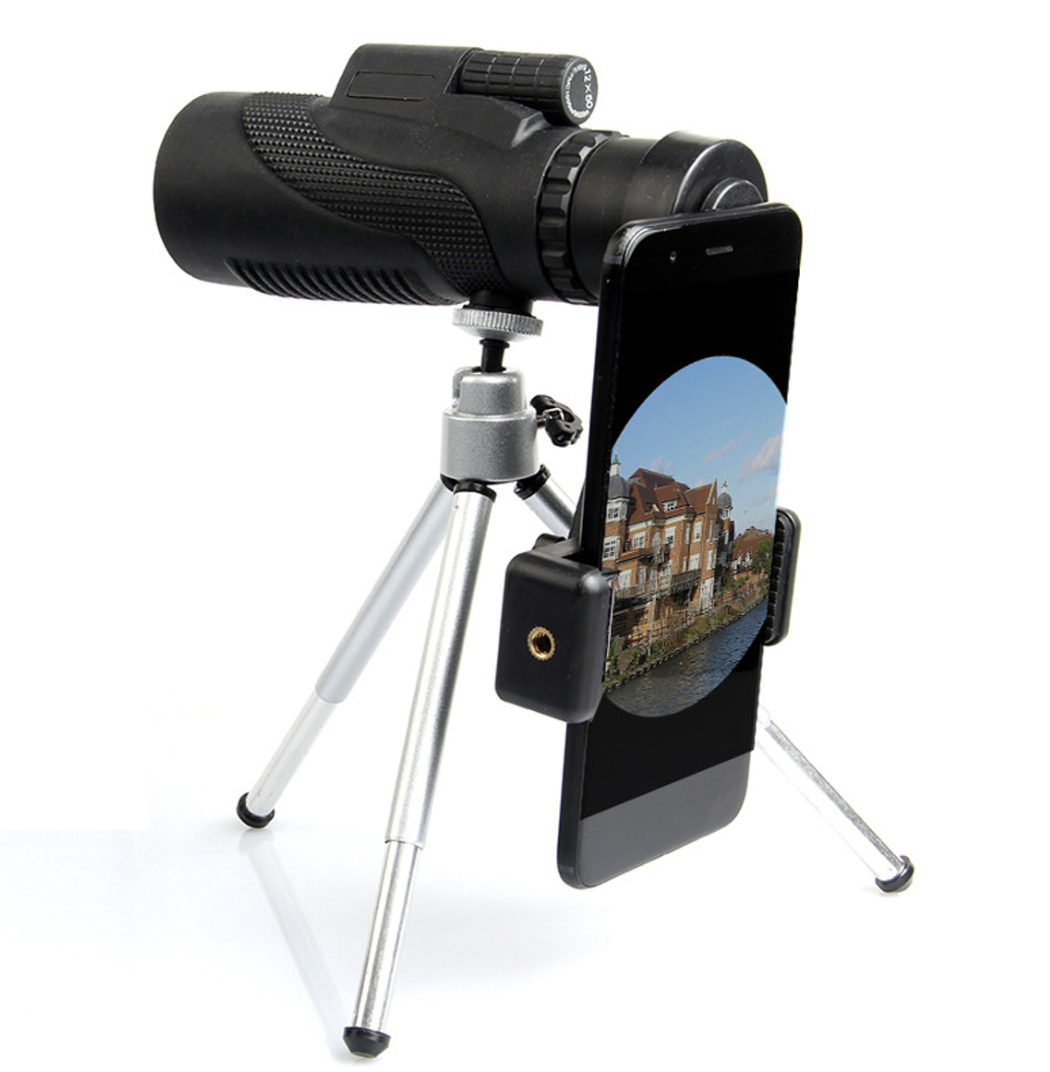 2019 Bak3 Monocular High Power Telescope Smartphone Holder & Tripod