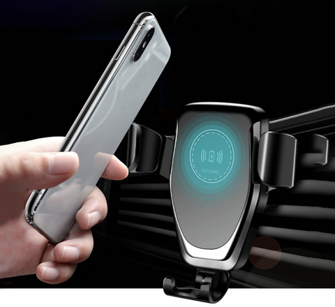 Car Mount Wireless Qi Fast Charger for iPhone and Samsung Android