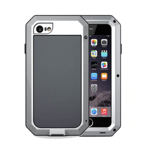 iPhone Shockproof Aluminum Alloy Case with Built-in Screen Protector