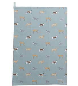 Sophie Allport speedy dogs tea towel