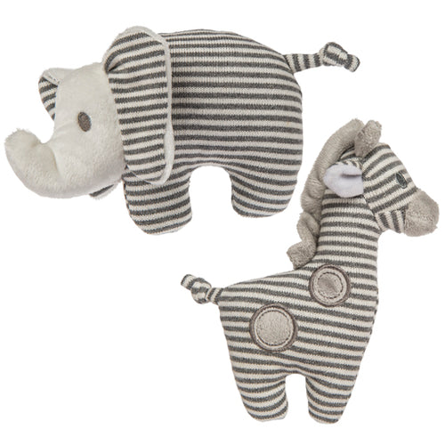 Giraffe and elephant baby rattle