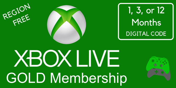 Microsoft Xbox Live Gold Membership - Digital Code (1, 3, or