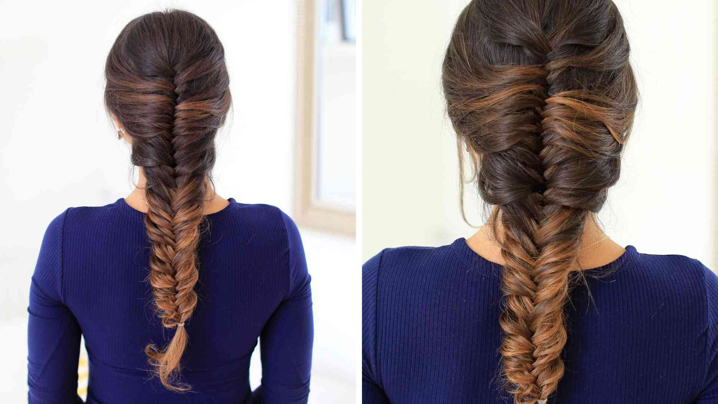 French Fishtail Braid How To French Fishtail Your Own Hair Luxy Hair