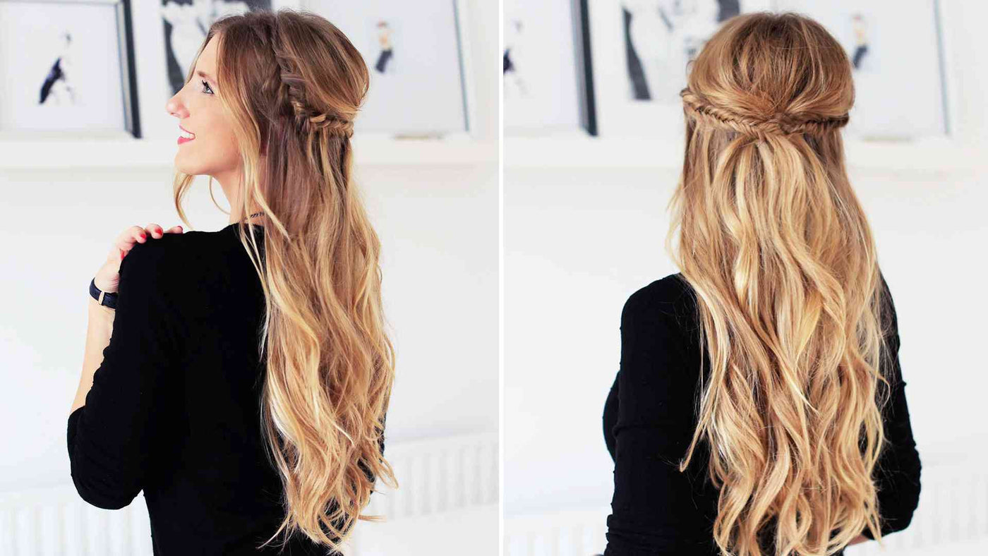 Holiday Half Updo Hairstyle