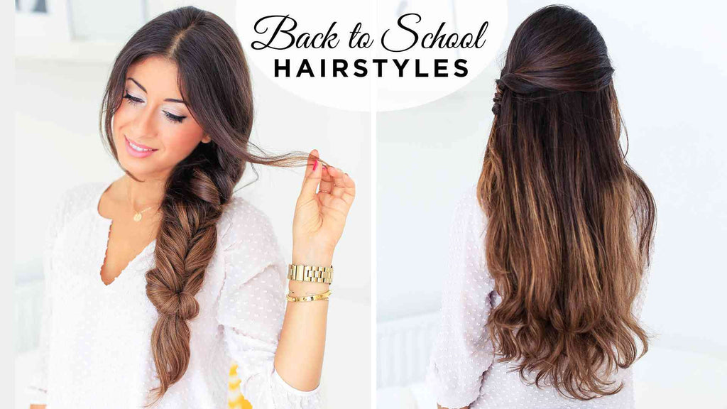 Back To School Hairstyles Ft Fluffy Braid Luxy Hair