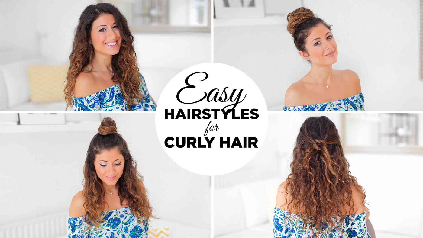 Easy Hairstyles for Curly Hair \u2013 Luxy Hair