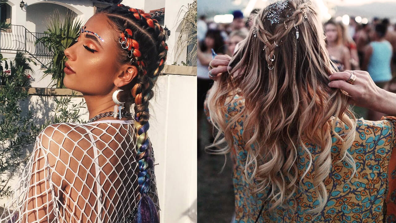 Festival Hair Coachella Hair Ideas Easy Hairstyles For Festivals