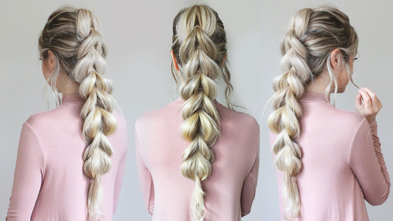Pull Through Braid How To Do An Easy Braid Hairstyle Tutorial
