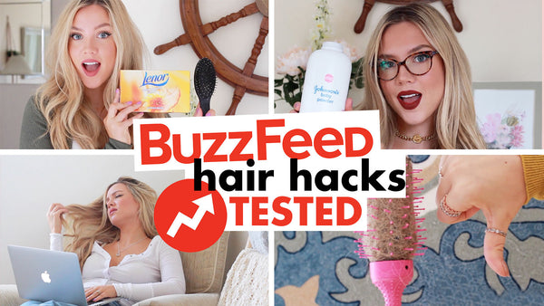 Buzzfeed Hair Hacks Tested! | 10 Hair Styling Hacks