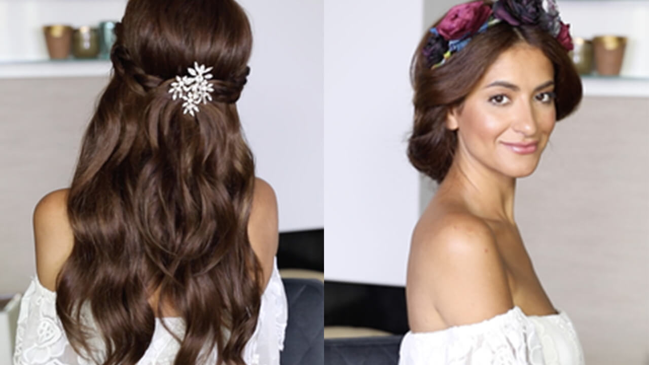 Easy Wedding Hairstyles With and Without Extensions