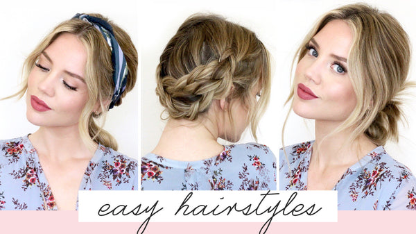 5 Easy Hairstyles For Short/Medium Length Hair [Spring Edition]