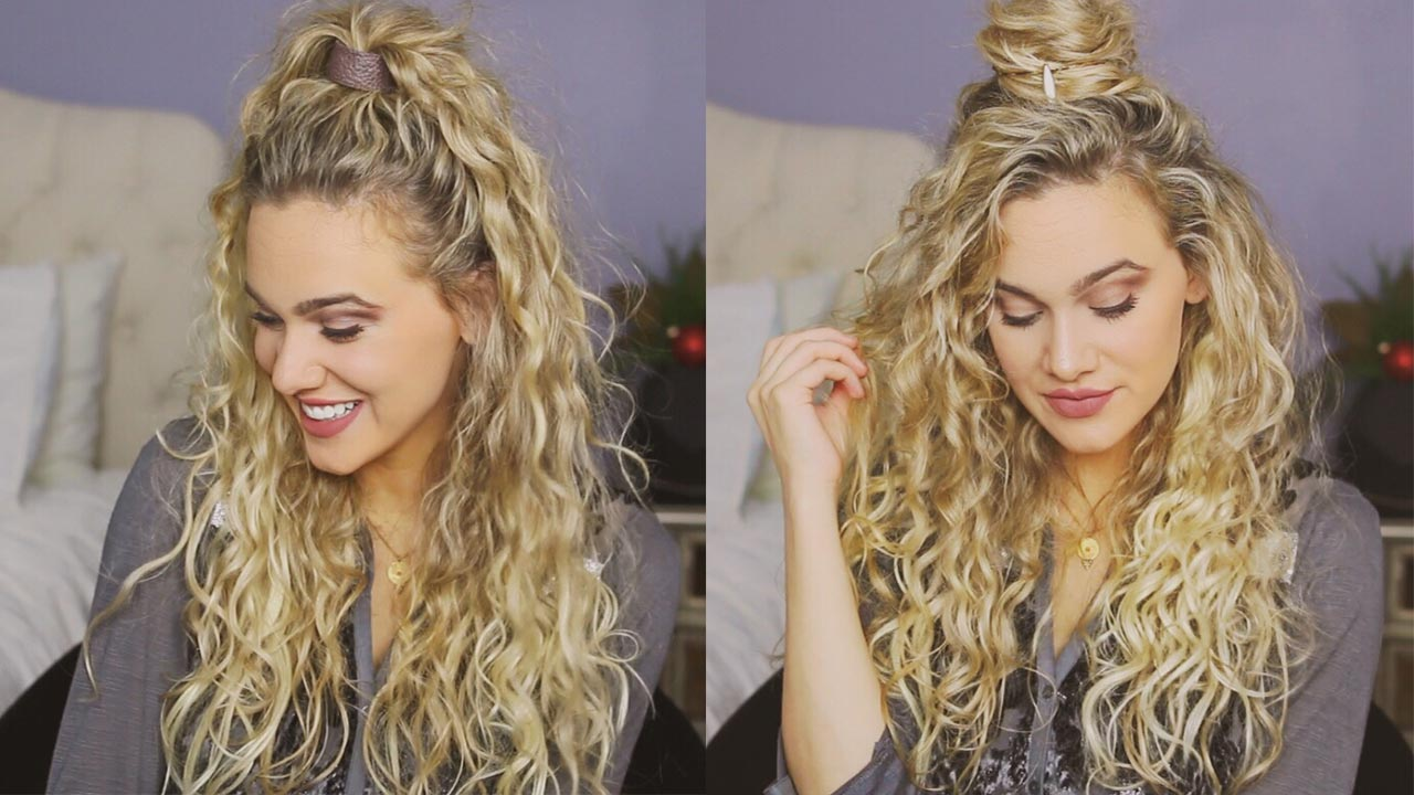 3 Easy Holiday Hairstyles for Curly Hair \u2013 Luxy Hair