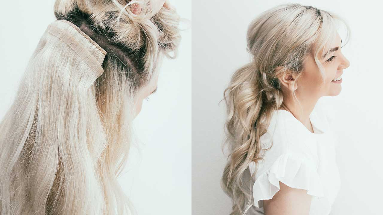 How To Get A Longer Thicker Ponytail Instantly Luxy Hair