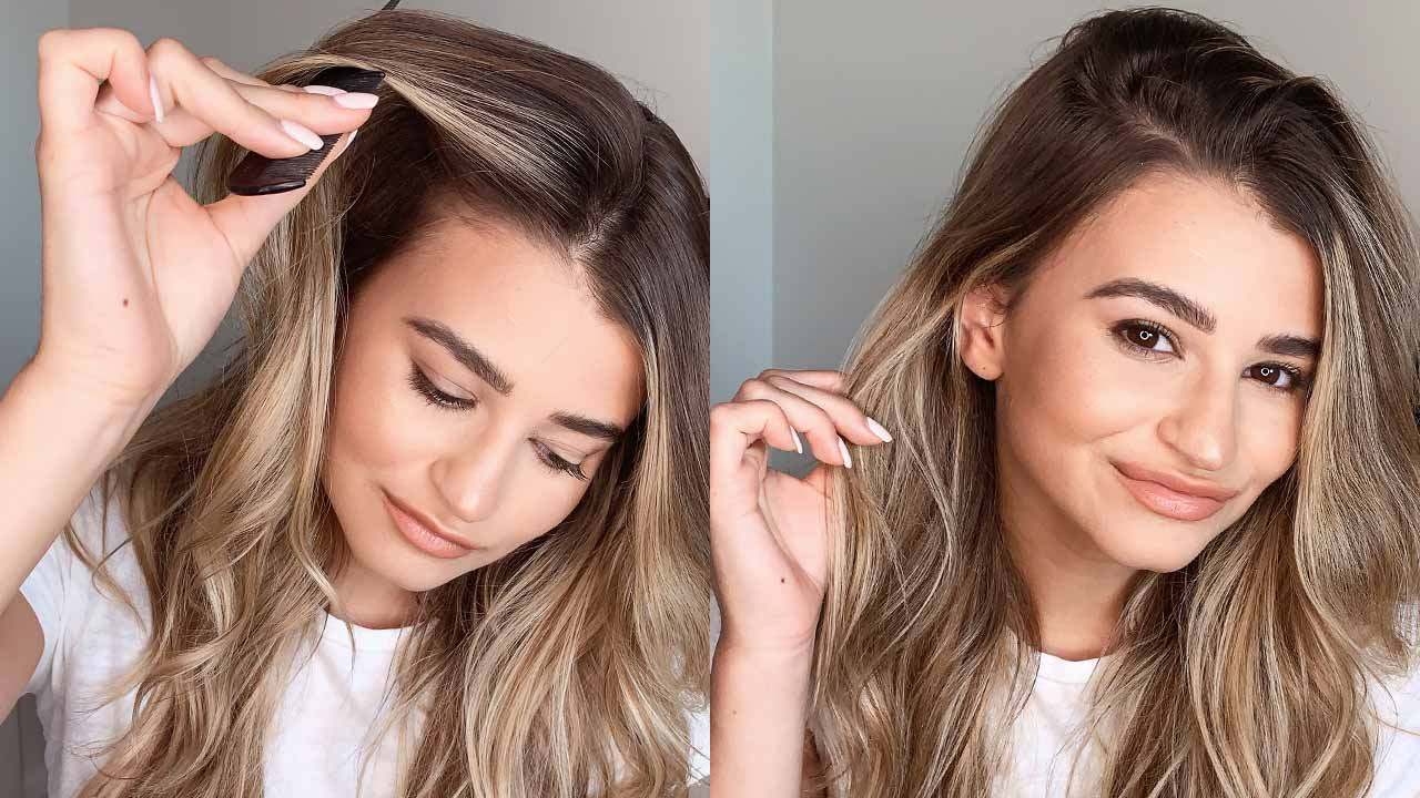 How To Part Your Hair 4 Different Ways Using Hair Extensions