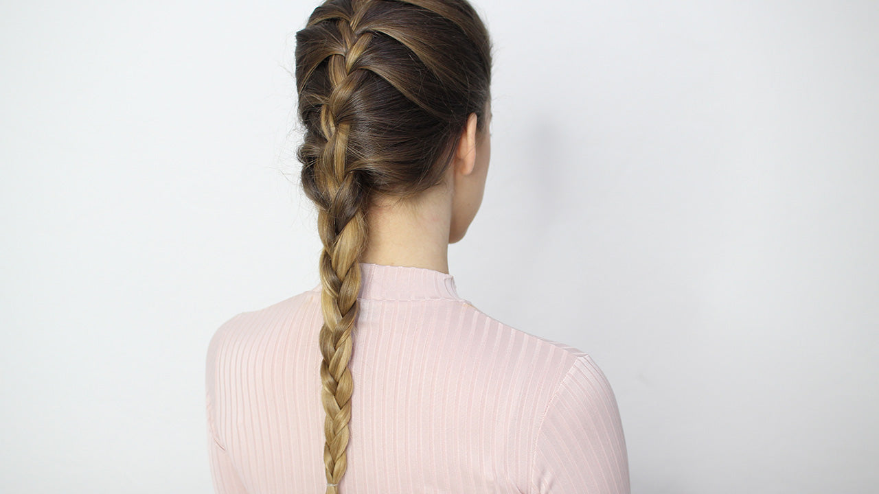 How to do two french braid pigtails on yourself