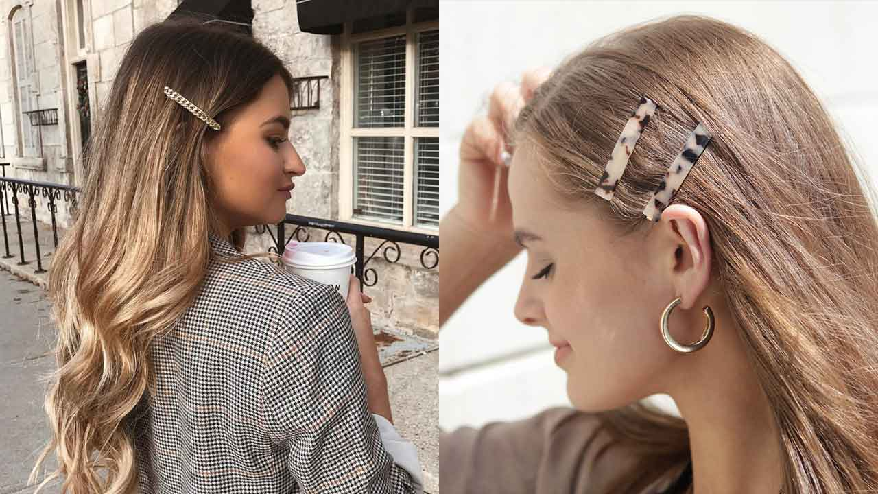 Hair clips How to wear hair clips like a cool girl \u2013 Luxy Hair