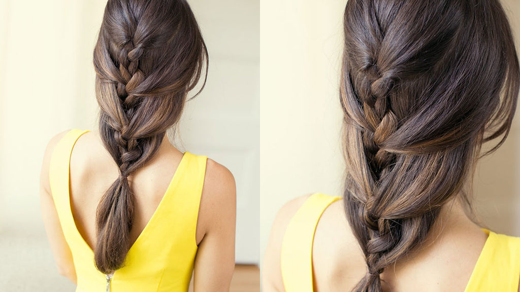 Relaxed French Braid Luxy Hair