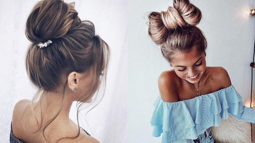 Bun Hairstyles 9 Top Knots For Every Hair Type Luxy Hair