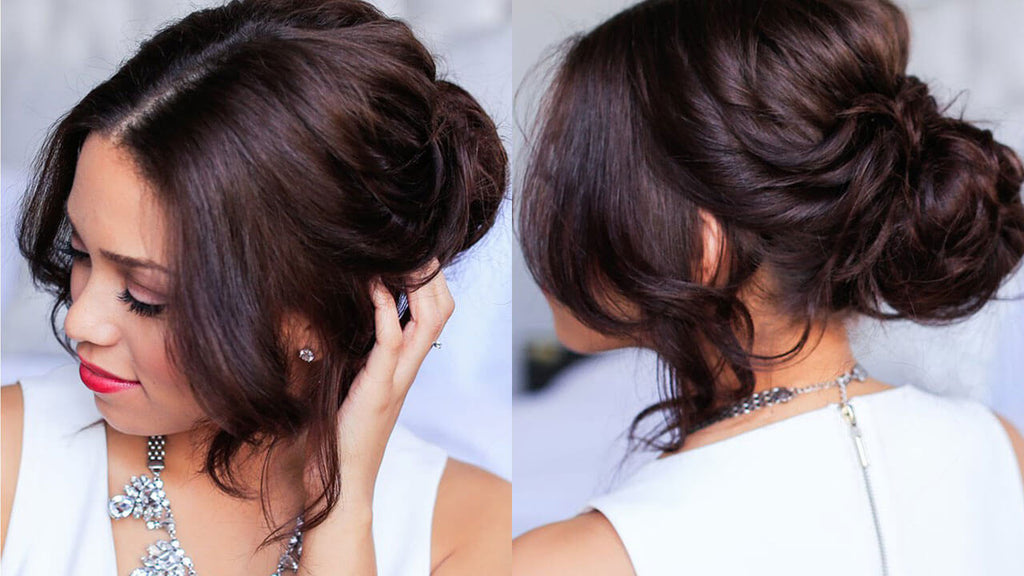 Twisted Updo Hairstyle Luxy Hair