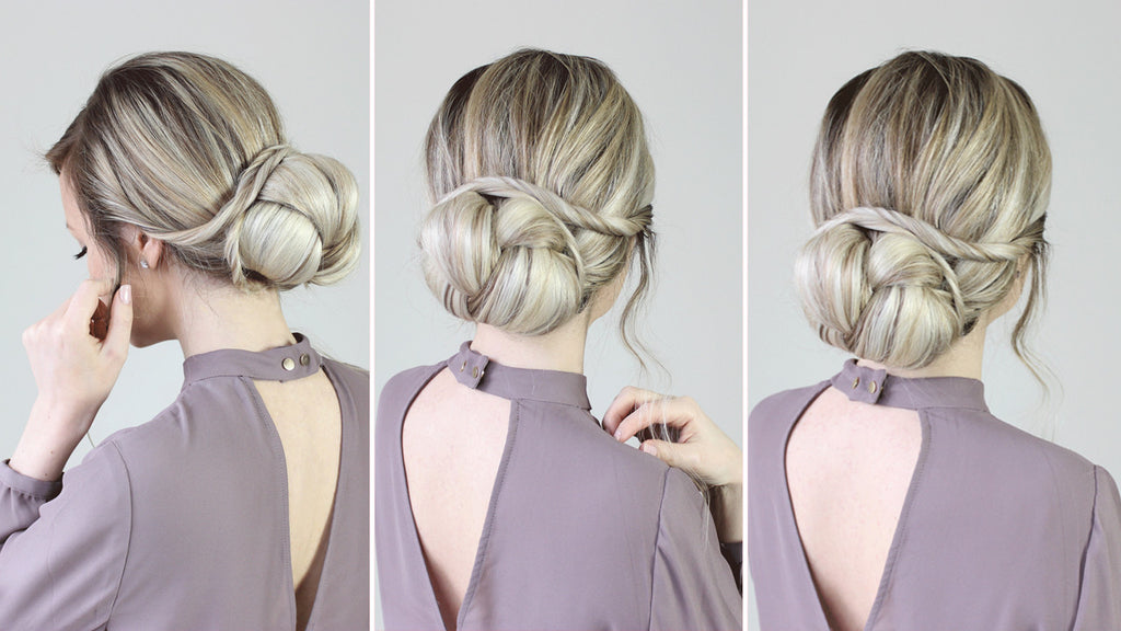 How To Romantic Updo Hair Style For Special Occasions Luxy Hair