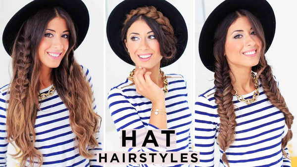 3 Cute Hat Hairstyles