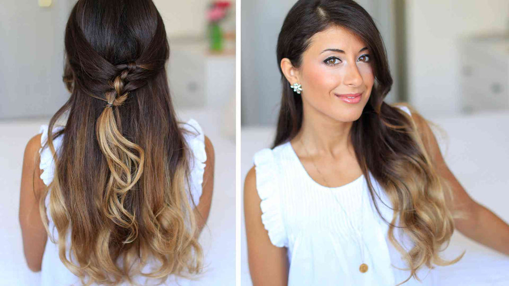 French Knot Half Do Hairstyle Luxy Hair