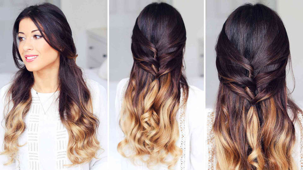 Cute Half Up Half Down Hairstyle Luxy Hair