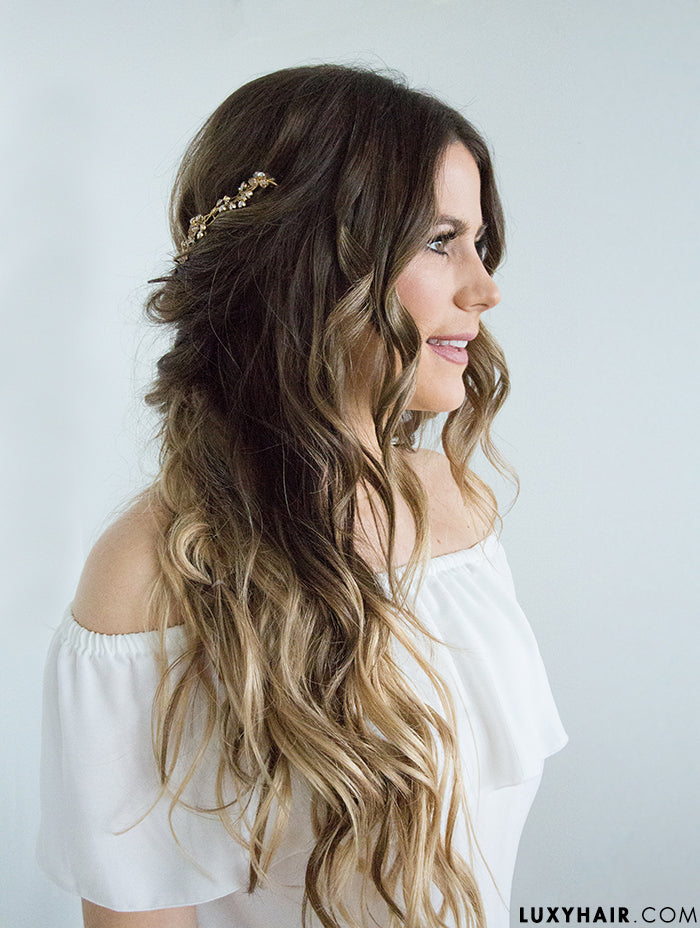 Wedding Hairstyles with Luxy Hair extensions