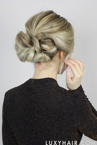 Pull Through Updo Cute Hairstyle For Wedding Or Prom Luxy Hair
