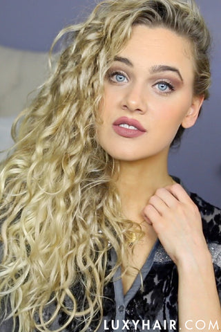 3 Easy Holiday Hairstyles For Curly Hair Luxy Hair