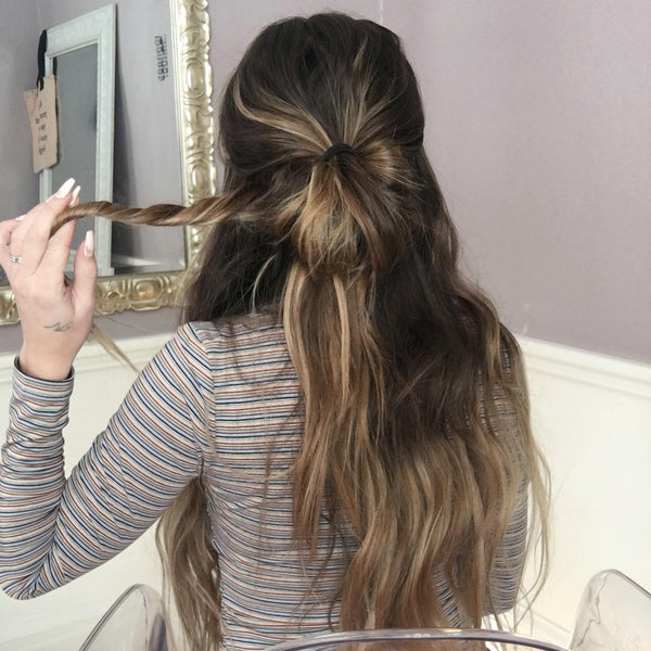 How to Style Long Hair: Beach Waves & Messy Bun