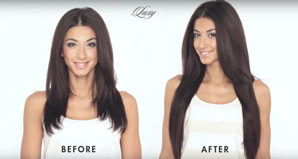 How To Clip In Hair Extensions Luxy Hair