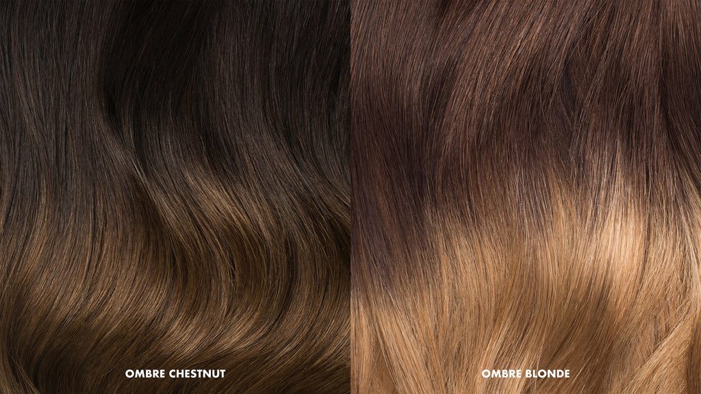 Ombre extensions without dying hair