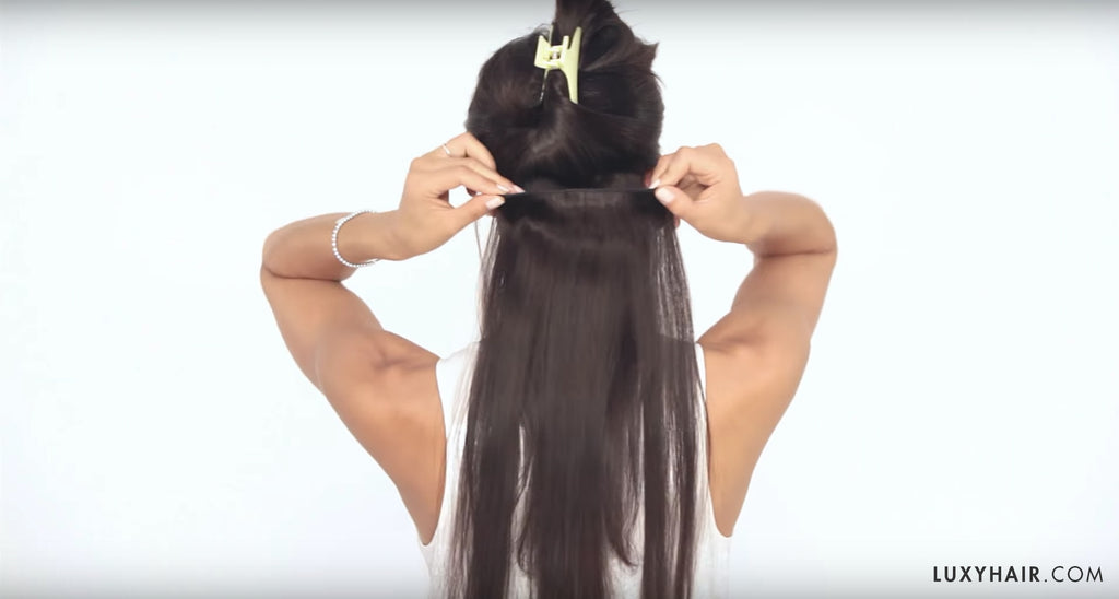 Measure luxy hair extensions weft to make sure it fits