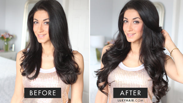 how to get long hair fast - clip in Luxy Hair extensions