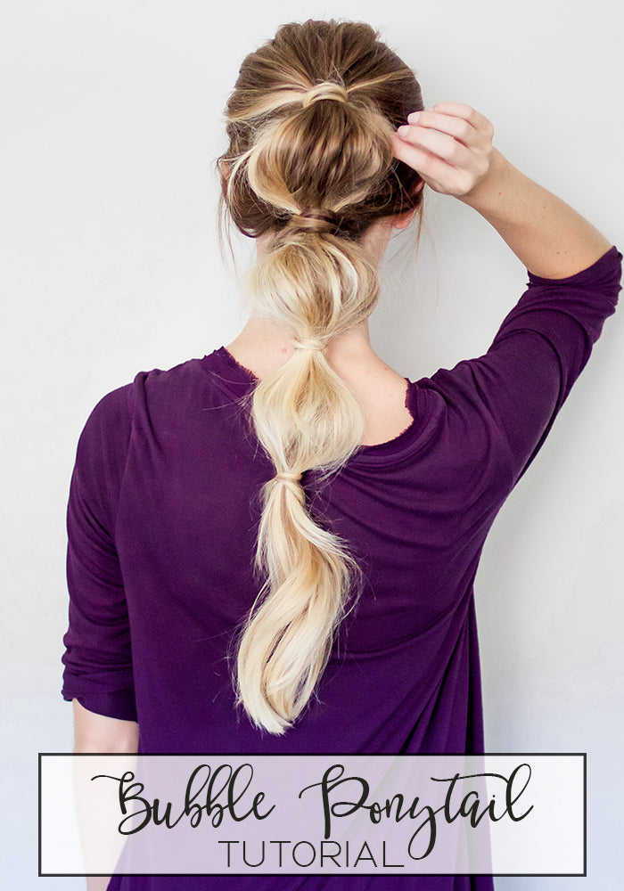 Bubble Ponytail Hairstyle Tutorial Luxy Hair Blog - Happily Howards