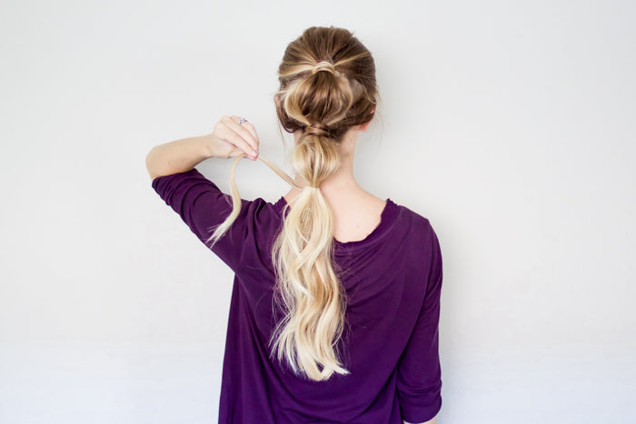 Bubble Ponytail Hair Tutorial with Luxy Hair Extensions by Erin Howards