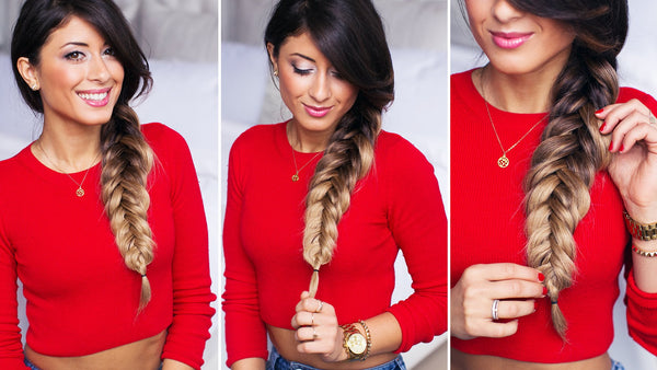 chunky reverse fishtail braid luxy hair