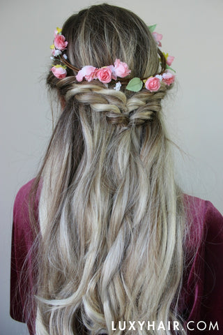 Easy Amp Quick Hairstyle With Flowers Perfect For Spring