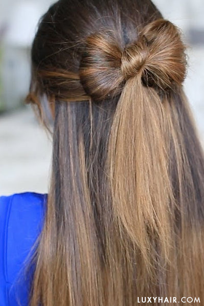 Hairstyles For Valentine's Day - Hair Bow Hair Tutorial