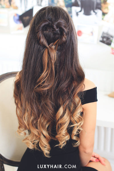 Hairstyles For Valentine's Day - Heart Bun