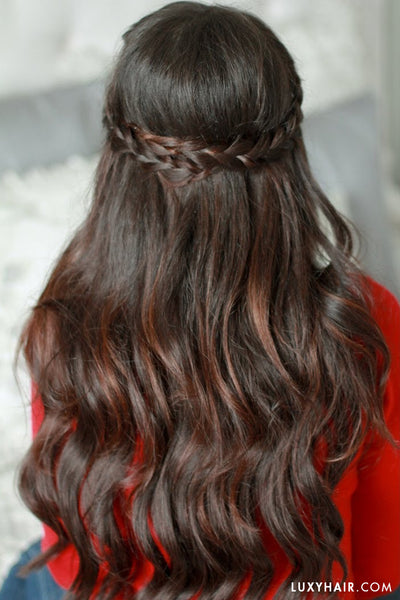 Hairstyles For Valentine's Day - Half Braided Hairstyle