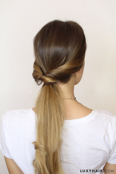 wrap around ponytail hairstyle luxy hair fall