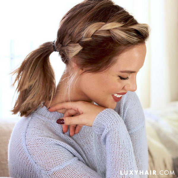 different ponytail styles for medium hair 7 different ways to wear a ponytail luxy hair 8241