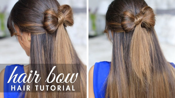 How to do a hair bow - Holiday hairstyle by Luxy Hair